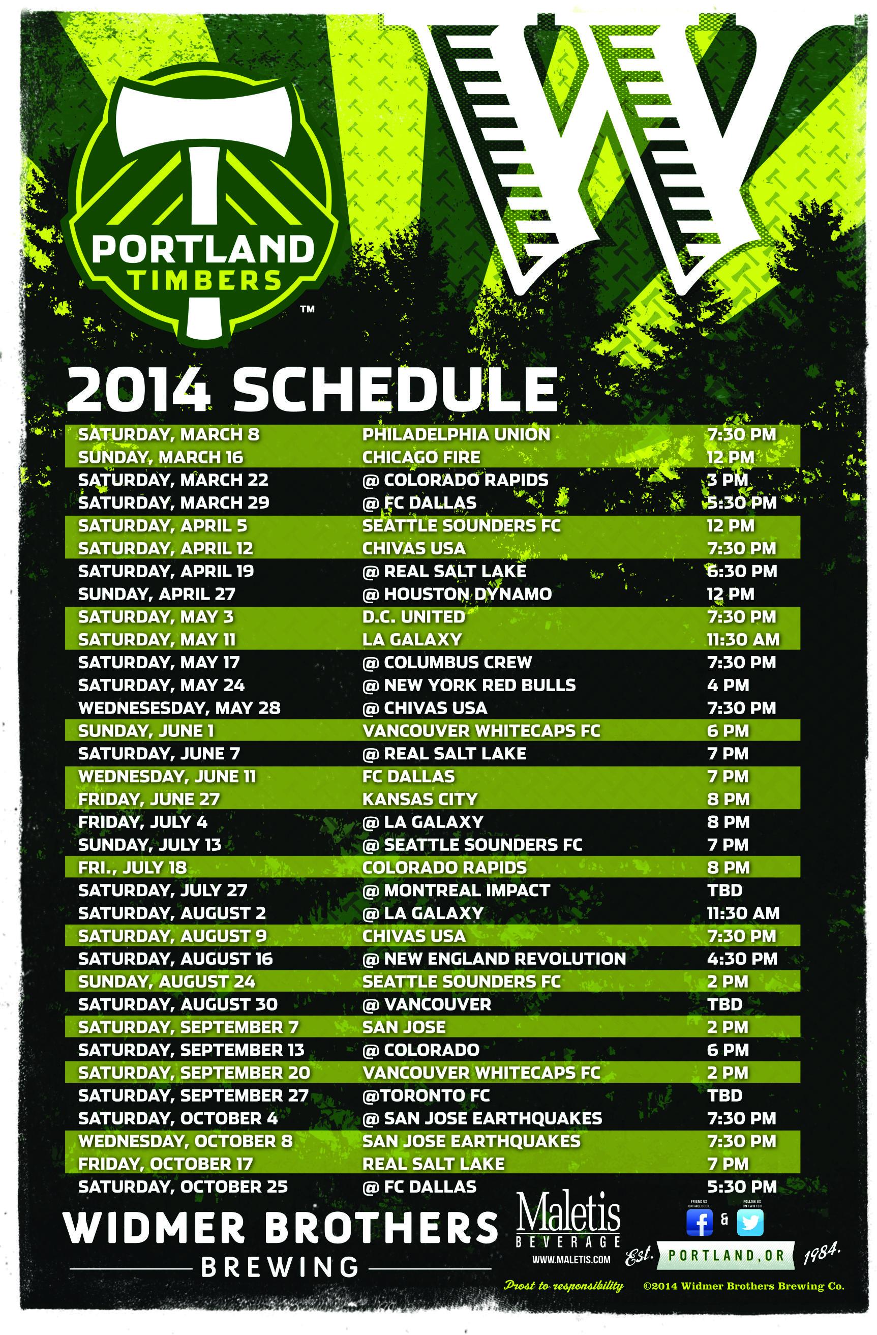 12x18 2014 Timbers Schedule - Widmer (2)